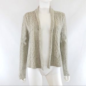 Converse One Star Cable Knit Open Cardigan Sweater